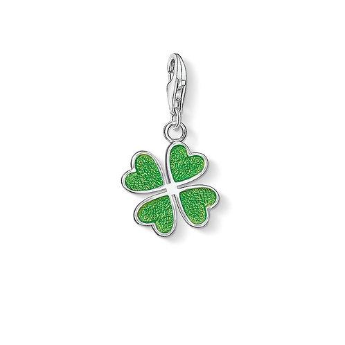 Thomas Sabo Silver Green Four Leaf Clover Charm - 0677-007-6