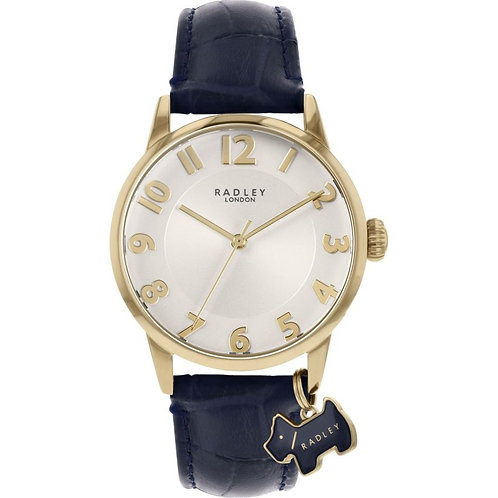 RADLEY Ladies Liverpool Street Blue Leather Strap Watch - RY2868