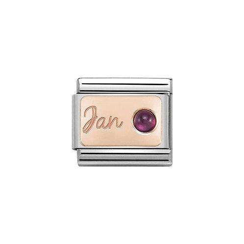 Nomination Rose Gold January Birthstone Charm Link - 430508/01