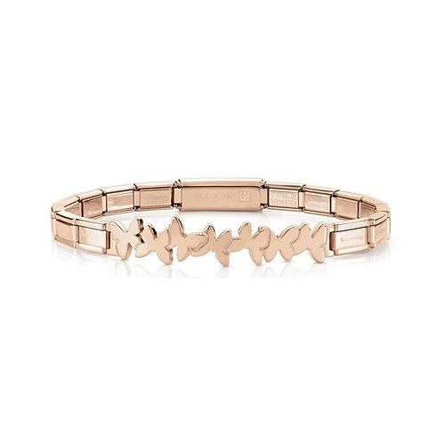 Nomination Trendsetter Butterfly Symbol Rose Gold Bracelet 021111/004