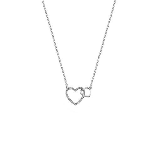 Hot Diamonds Sterling Silver Togetherness Open Heart Necklace - DP731