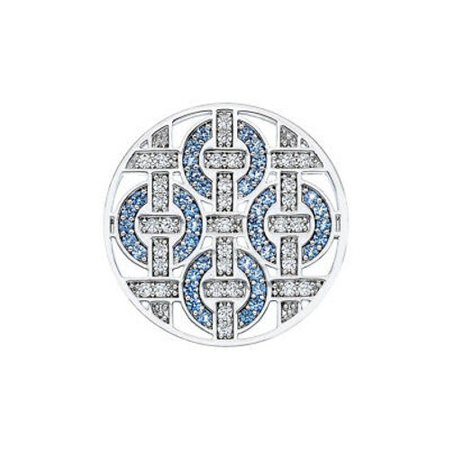 Emozioni by Hot Diamonds Telaio Light Blue CZ Coin - EC203 EC202