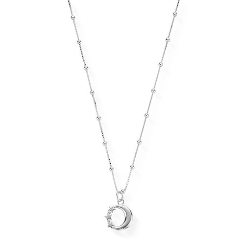 ChloBo Sterling Silver Newbie Moon and Star Necklace - SNBB580
