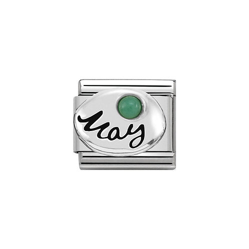 Nomination Silvershine May Birthstone Charm Link - 330505/05