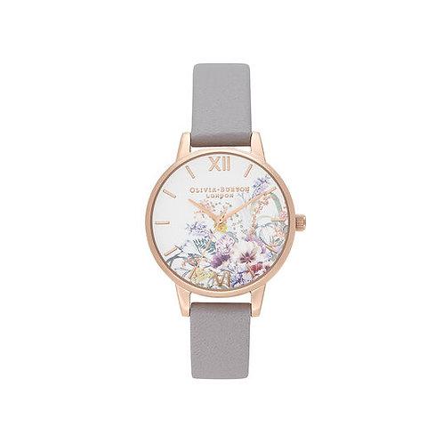 Olivia Burton Enchanted Garden Lilac and Pale Rose Gold Watch - OB16EG150