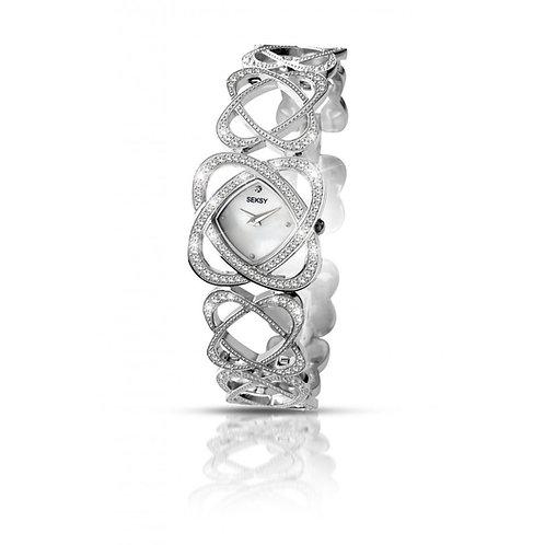 Sekonda Seksy Ladies Crystal Hearts White Face Watch - 4109