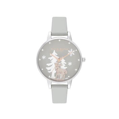 Olivia Burton Winter Wonderland Vegan Grey Watch - OB16AW02
