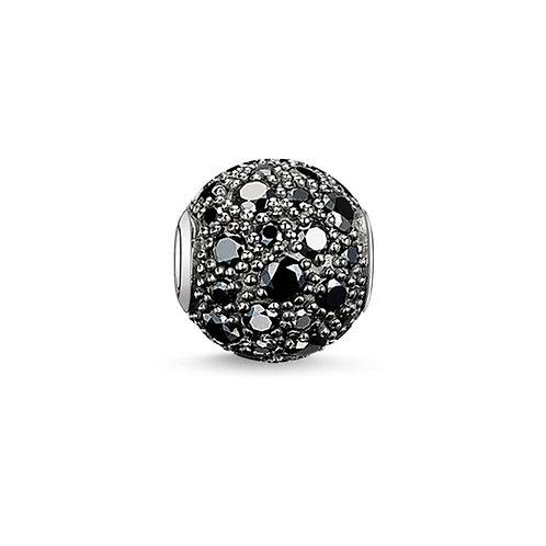 Thomas Sabo Karma Black Crushed Pave Bead Charm - K0109-643-11