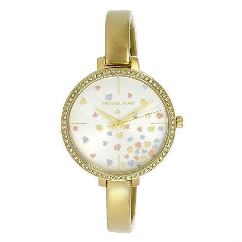 Michael Kors Yellow Gold Jaryn Bangle Strap Watch MK3977