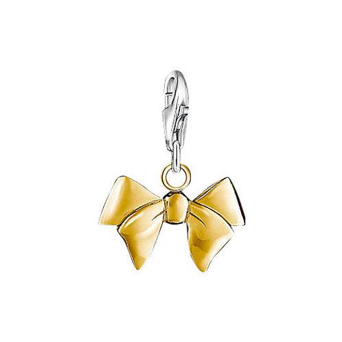 Thomas Sabo Silver Gold Bow Charm - 0964-413-12