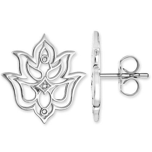 Thomas Sabo Silver Lotus Flower Stud Earrings - D_ H0007-725-21