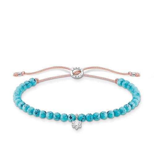 Thomas Sabo Turquoise Faceted Bead Bracelet - A1987-905-17-L20v