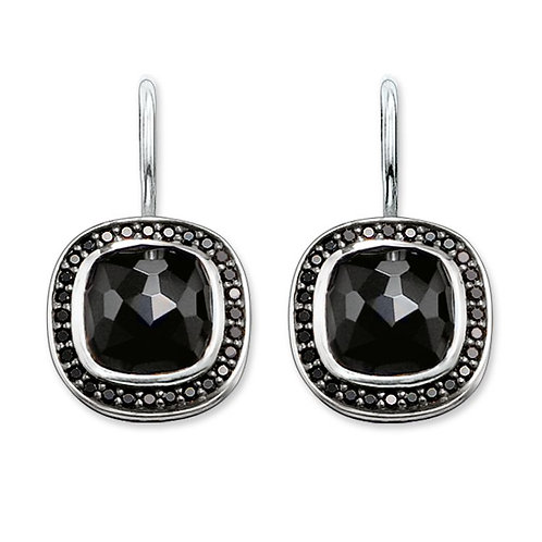 Thomas Sabo Silver Black CZ and Onyx Earrings - H1830-641-11