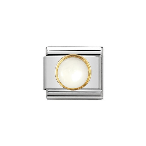 Nomination Classic Gold Round Moonstone Charm Link - 030503/17