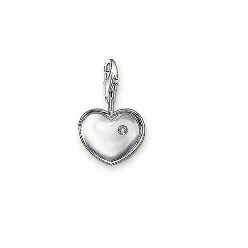 Thomas Sabo Silver Heart Locket Diamond Charm - DC0011-153-14