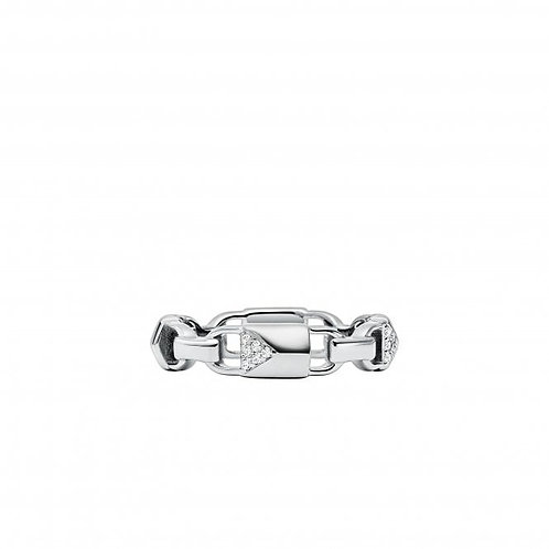 Michael Kors Sterling CZ Link Band Ring - MKC1124AN040
