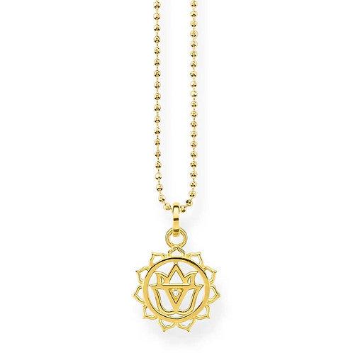 Thomas Sabo Silver Gold Plated Solar Plexus Chakra - KE1688-414-39-L45v