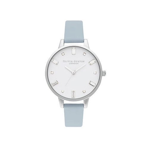Olivia Burton Bejewelled Vegan Chalk Blue Strap Watch - OB16BJ01