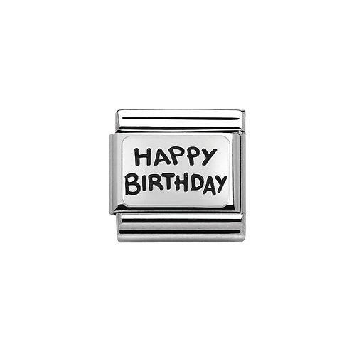Nomination Silvershine Engraved Happy Birthday Charm Link - 330102/41