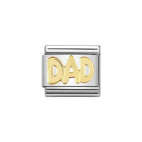 Nomination Gold DAD Charm Link - 030107/11