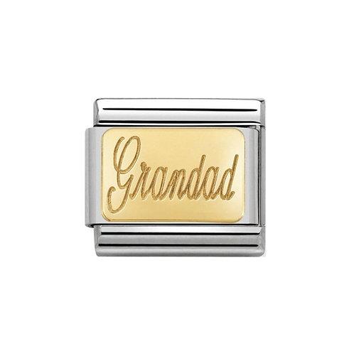 Nomination Gold Engraved Grandad Charm Link - 030121/28