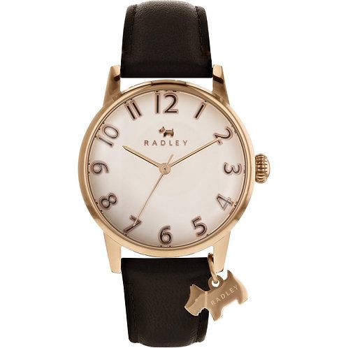 RADLEY Ladies Liverpool Street Brown Leather Strap Watch - RY2592