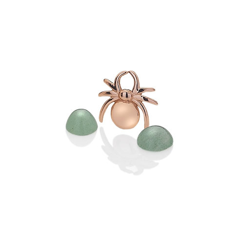 Anais by Hot Diamonds Sterling Silver Rose Gold Lucky Spider Charm - AC004