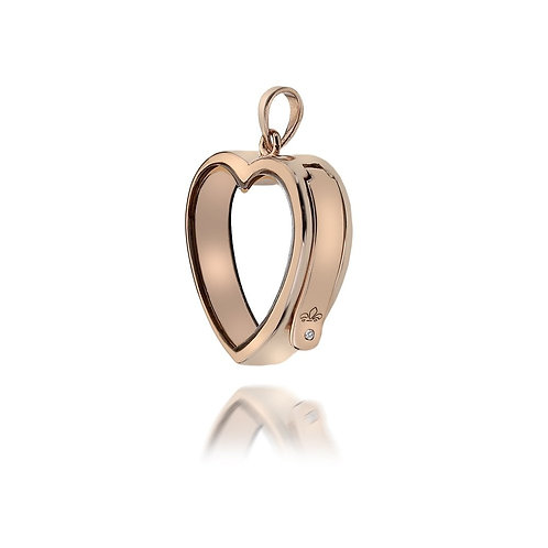 Anais by Hot Diamonds Rose Gold Plated Love Heart Locket - AL004