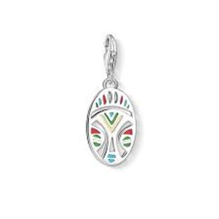 Thomas Sabo Silver Multi-Coloured African Mask Charm - 1422-007-21