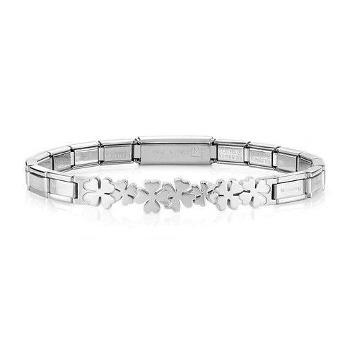 Nomination Trendsetter Lucky Clover Symbols Stainless Steel Bracelet 021126/005