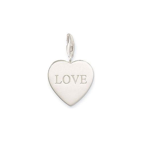 Thomas Sabo Silver LOVE Charm - 0015-001-12