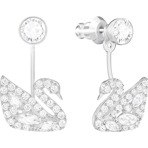 SWAROVSKI Swan Lake Rhodium Tone Stud Earrings - 5379944