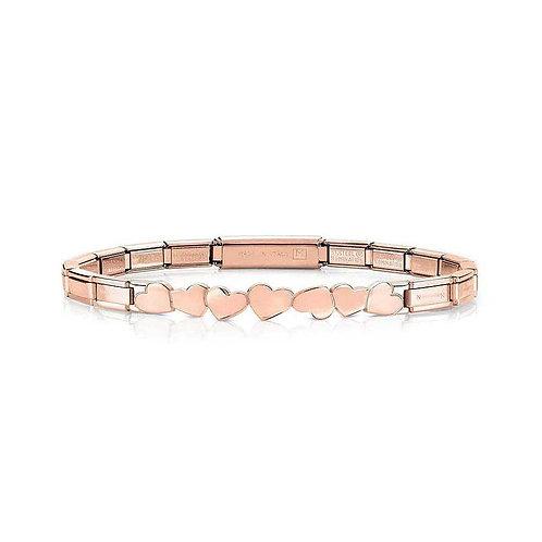 Nomination Trendsetter Love Hearts Symbol Rose Gold Bracelet 021111/002