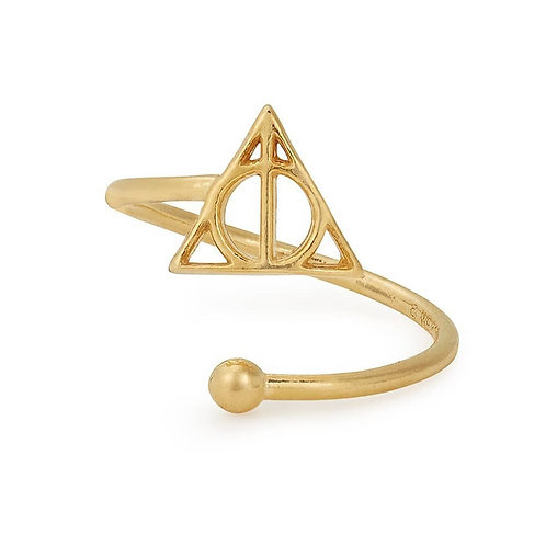 Alex and Ani Harry Potter Deathly Hallows Adjustable Ring - AS17HP16G