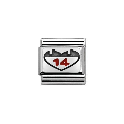 Nomination Silvershine 14 Engraved Charm Link - 330208/03