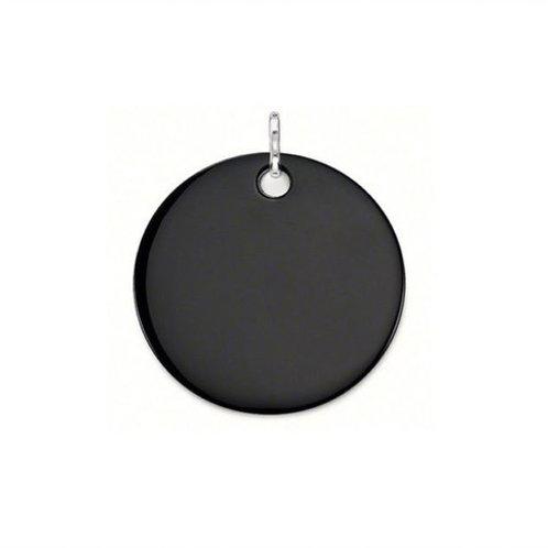 Thomas Sabo Large Black Onyx Disc Pendant - PE429-024-11