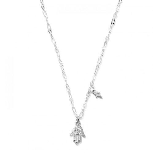 ChloBo Sterling Silver Delicate Hamsa Hand Necklace - SNLC4012