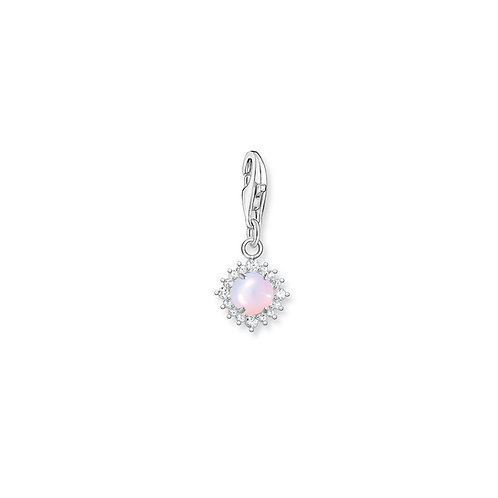 Thomas Sabo Silver and Pink Opal Charm - 1866-166-7