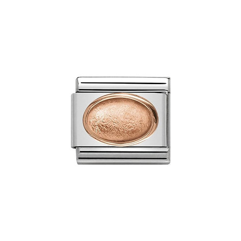 Nomination Rose Gold Classic Oval Stone Charm Link - 430505/03