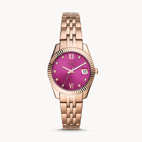 FOSSIL Scarlette Pink Mini Face three hand Ladies Watch - ES4900