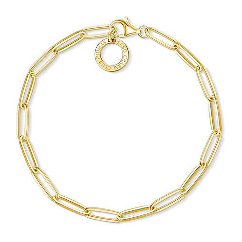 Thomas Sabo Yellow Gold Paperclip Charm Bracelet - X0253-412-39