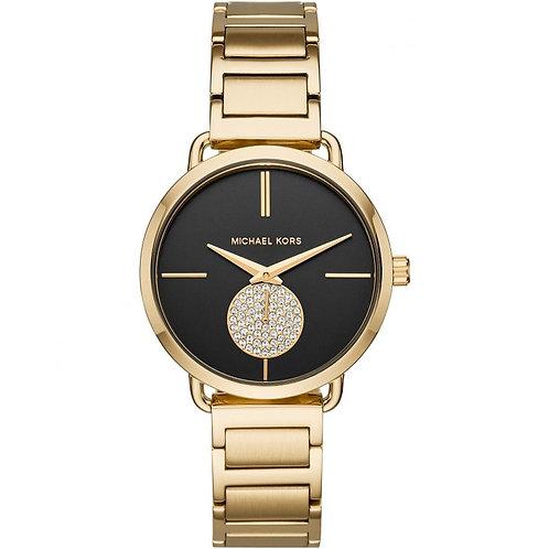 Michael Kors Gold Tone Portia Bracelet Strap Watch MK3788