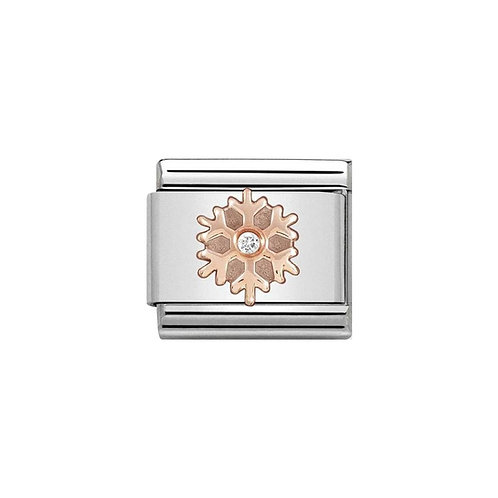 Nomination Rose Gold Classic Snowflake Charm Link - 430305/23