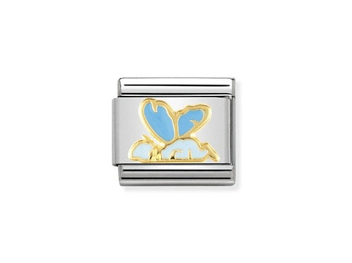 Nomination Gold and Blue Enamel Baby Fairy Charm Link - 030272/05