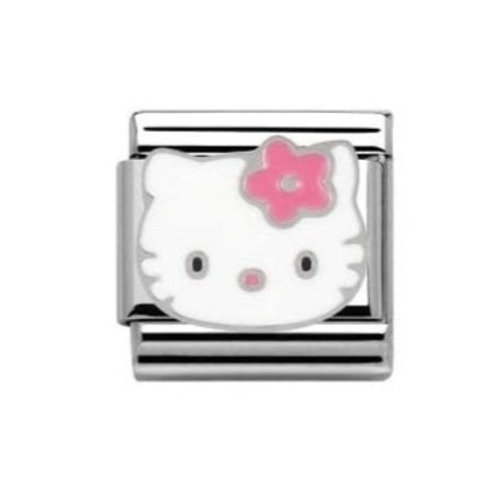 Nomination Hello Kitty Pink Flower Charm Link - 230290/08