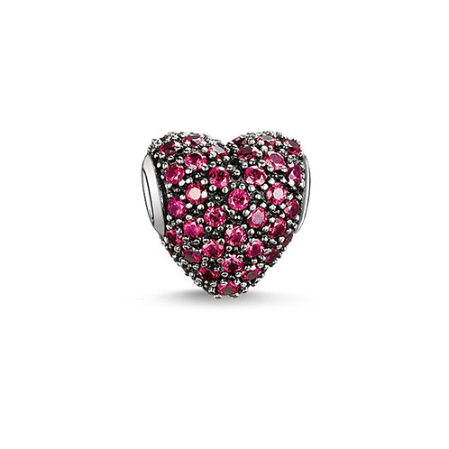Thomas Sabo Karma Red Pave Heart Bead Charm - K0084-639-10