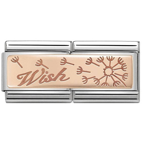 Nomination Rose Gold Wish Double Plates Charm Link - 430710/19
