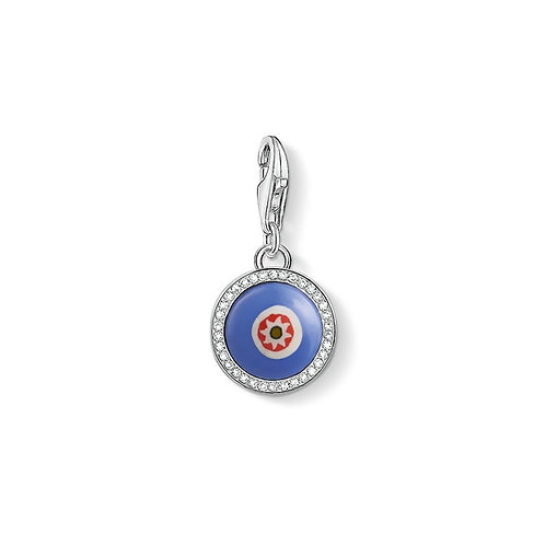 Thomas Sabo Sterling Silver Blue Glass Eye Charm - 1440-052-1