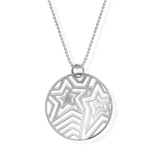 ChloBo Sterling Silver Round Filigree Star Necklace - SCDC2447