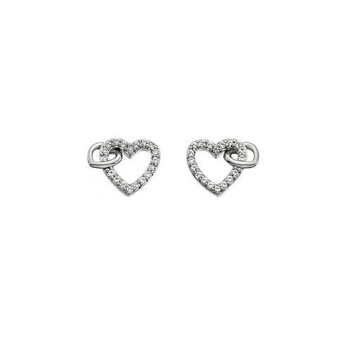 Hot Diamonds Sterling Silver Togetherness Heart Earrings